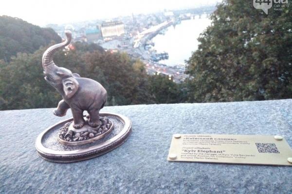 У центрі Києва помітили маленького слона
