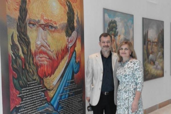Відомий художник з Тернопільщини відкрив виставку в Бангкоку (Фото)