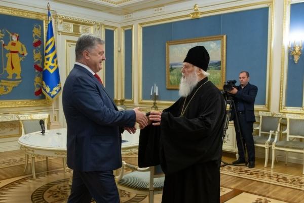 Патріарх Філарет особисто привітав Президента з рішенням Синоду Вселенського Патріархату про автокефалію Української Церкви