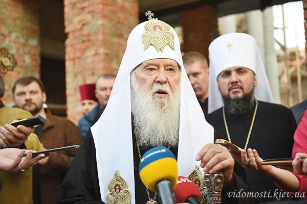 Святійший Патріарх Філарет оглянув хід будівництва кафедрального собору в Тернополі