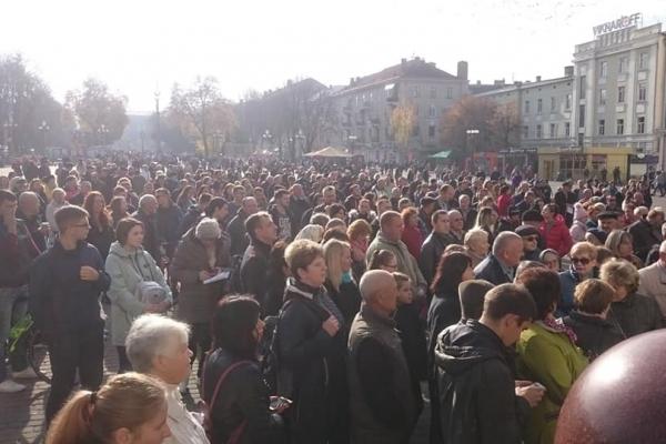 У Тернополі на Майдані протестують через подорожчання проїзду (Наживо)