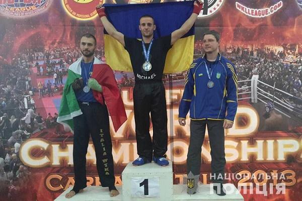 Поліцейський з Тернопільщини здобув перемогу у Чемпіонаті світу з кікбоксингу