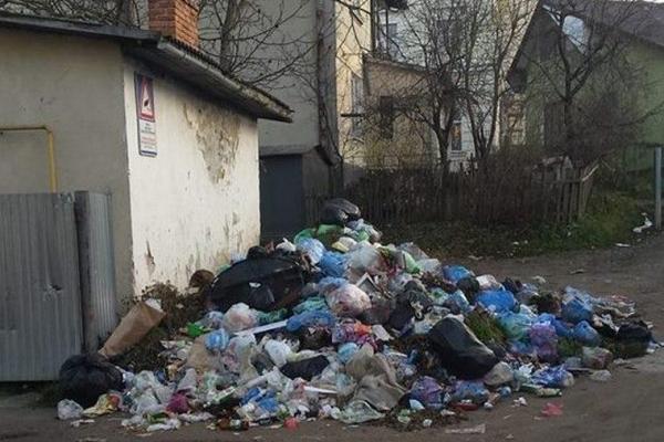 Райцентр Тернопільщини знову тоне у смітті (Фото)