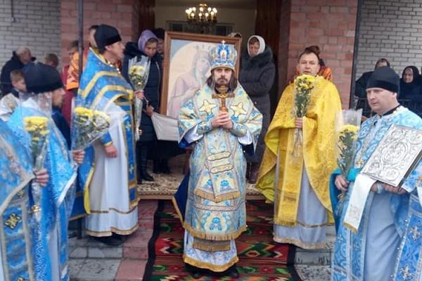 У Борщівці на Тернопільщині вшанували ікону Пресвятої Богородиці «Скоропослушниця» (Фото)