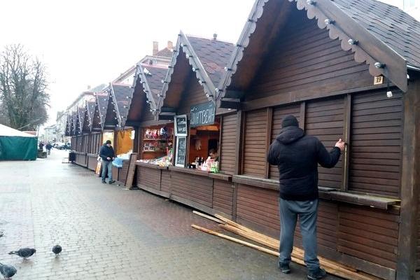 «Зимове містечко» у центрі Тернополя частково запрацювало