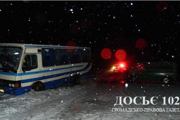 ДТП на Тернопільщині: в автобус з пасажирами врізався бус (Фото)