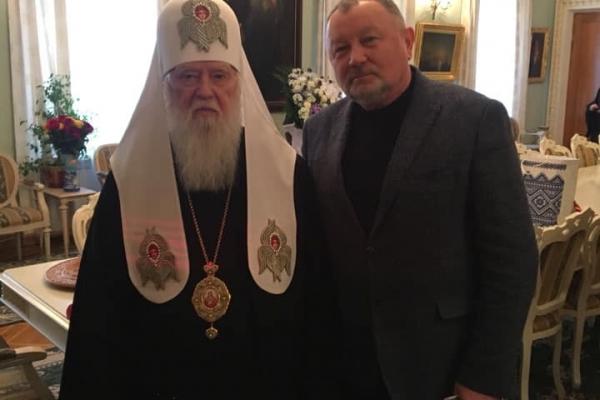 Апостол подякував патріархові Філарету