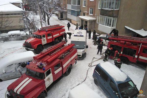 У Тернополі горіла квартира. Є жертви (Фото)
