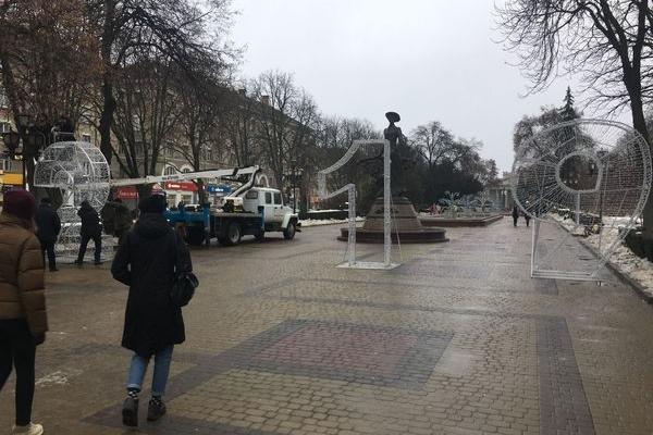 У центрі Тернополя облаштували святкове місце для селфі (Фото, відео)