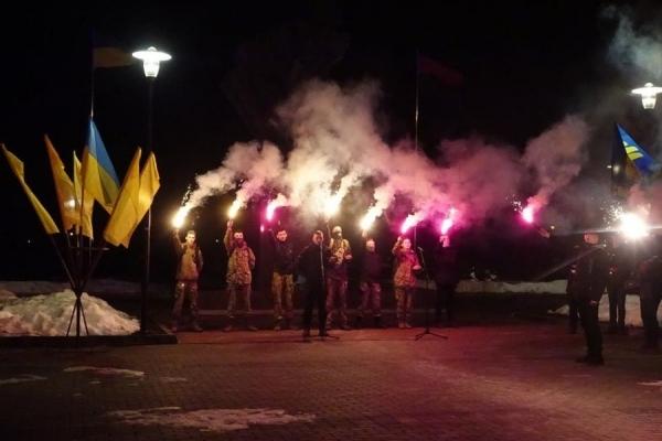 Смолоскипною ходою у Тернополі вшанували 110-ту річницю від дня народження Степана Бандери (Фоторепортаж)