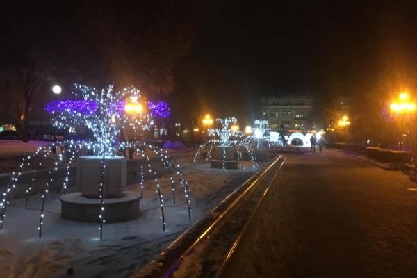 Фото вечірнього зимового Тернополя зачаровують