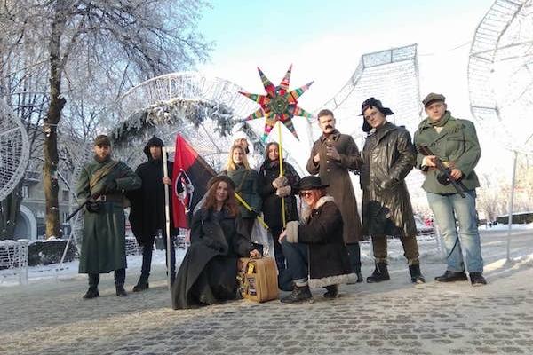 На різдвяні свята у Тернополі ходить Повстанський вертеп