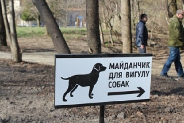 Тернополяни просять створити місце для вигулу собак