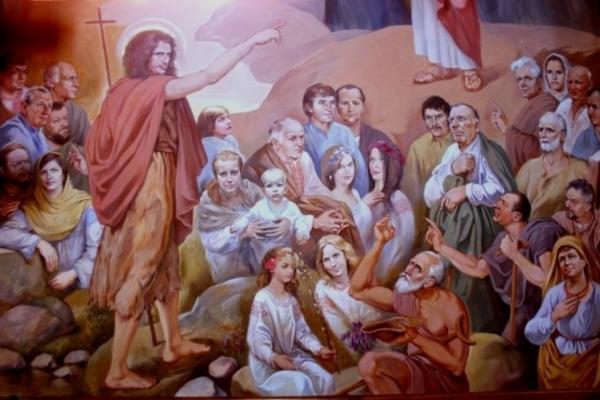 Святі у вишиванках, сотники УПА на стелі, та Скрябін у ролі Івана Хреститиля