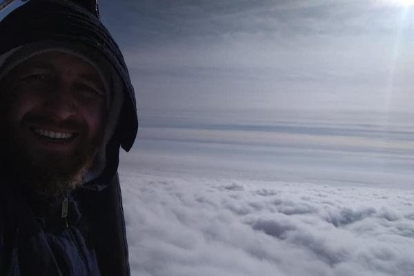 Вище неба: тернополянин показав фото з повітряної кулі (Фото)
