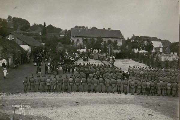 Село Горожанка на фото 1915 року