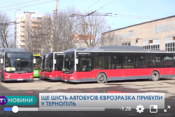 Незабаром вулицями Тернополя курсуватимуть ще два сучасні автобуси європейського зразка (Відео)