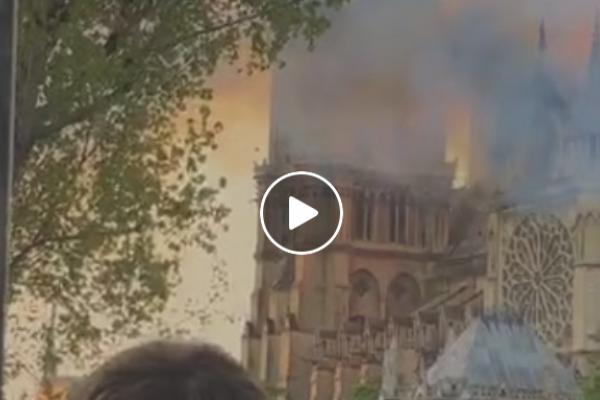 Горить Собор Паризької Богоматері в столиці Франції (Відео, пряма трансляція)