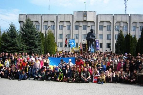Свято пластунів Тернопільщини в Шумську