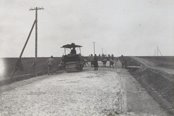Ремонт дороги біля с.Теофіпілка 100 років тому