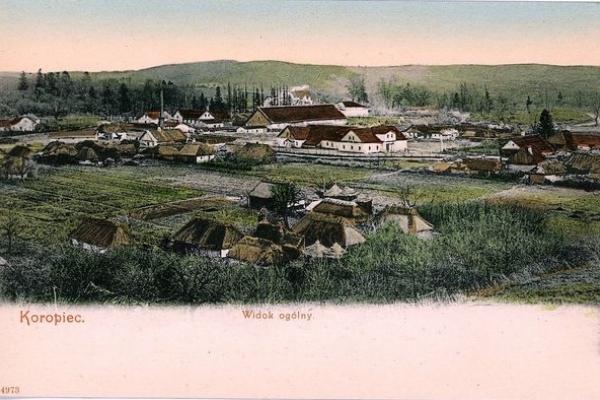 Село Коропець на ретро фото