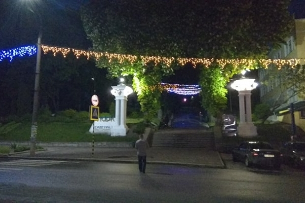 Кременецький «Тунель кохання» тепер світитиметься вночі (Фото)