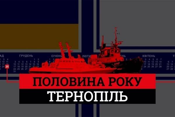Тернопільські активісти на набережній ставу проведуть акцію, щоб нагадати українцям про військовополонених моряків
