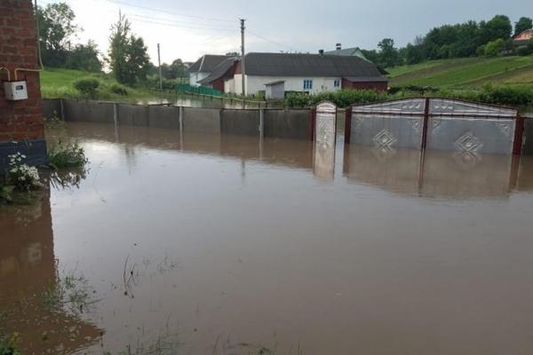 На Тернопільщині затопило село (Фото)