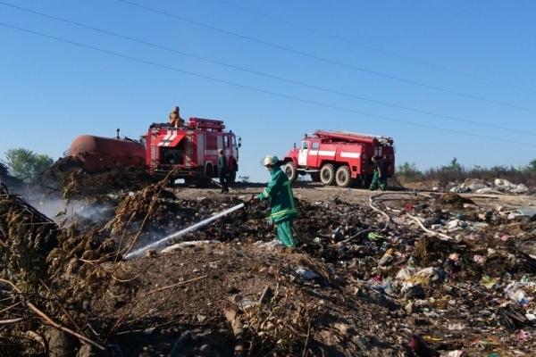 На Тернопільщині горіло сміттєзвалище