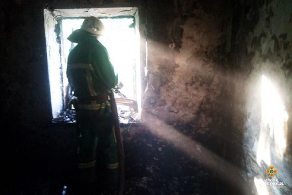 У Тернополі горів закинутий будинок