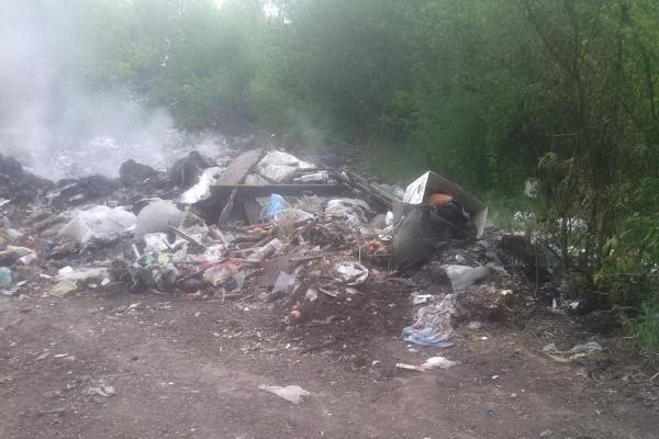 У Зборівському районі горіло стихійне сміттєзвалище