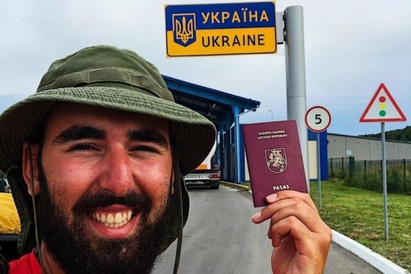 У Тернополі побував мандрівник, котрий іде з Литви до Грузії