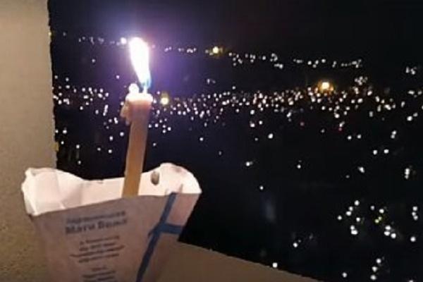 Неймовірне відео походу зі свічками на Всеукраїнській прощі в Зарваниці