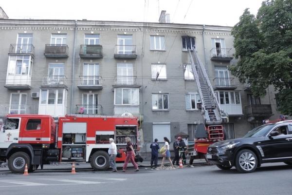 У центрі Тернополя горіла квартира
