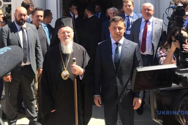 Патріарх Варфоломій показав Зеленському собор Святого Георгія та провів до кортежу