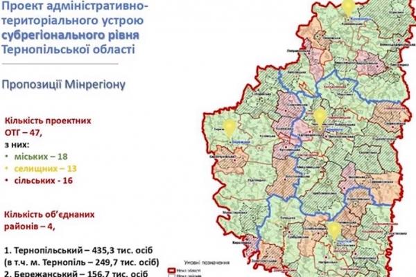 На Тернопільщині залишать лише чотири райони? (Карта)