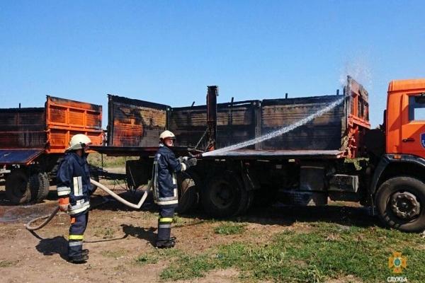 В Бучацькому районі горіла вантажівка