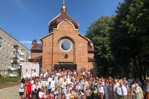 Тернопільський митрополит освятив новий греко-католицький храм на Хмельниччині