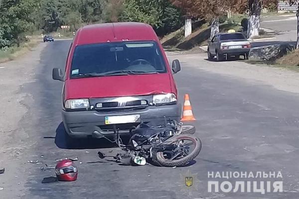 Випробував новий мопед, але попав в аварію: на Тернопільщині ДТП