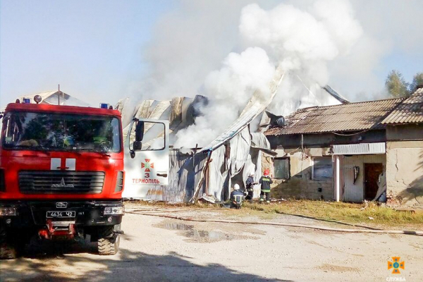 На Тернопільщині була великомасштабна пожежа (Фото)