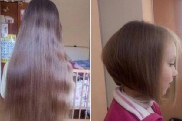 Маленька тернополянка обрізала своє волосся заради онкохворих діток