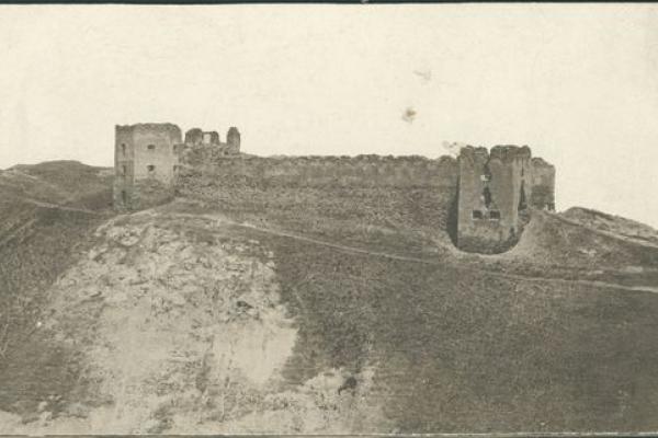 Замок в Кудринцях на ретро фото