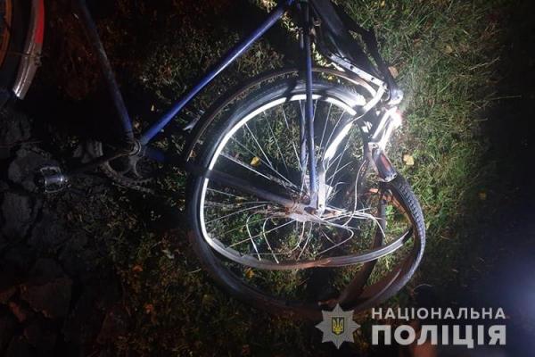 Під Тернополем п'яний велосипедист потрапив у ДТП
