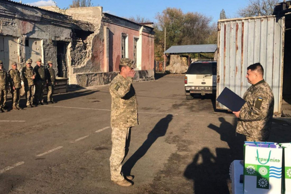 Делегація з Тернопільщини побувала в гостях у військових в Попасній