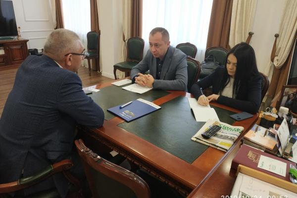 Виконавчий директор Тернопільського РВ АМУ та Іван Чайківський домовились про спільний розвиток Тернопільщини