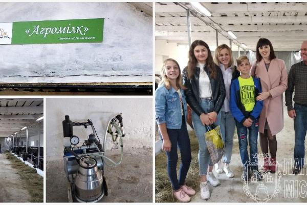 На Тернопільщині відкрили ще одну сімейну молочну ферму