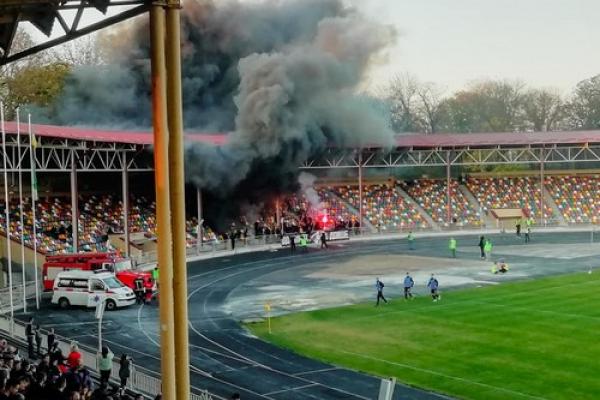 Футбольні фанати понищили майно Тернопільського стадіону (Фото)