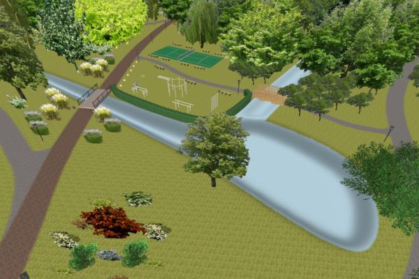 У Ланівцях відбудовують занедбаний парк (Відео)