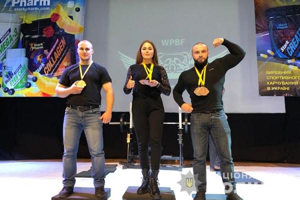 Тернопільські поліцейські стали чемпіонами світу з пауерліфтингу