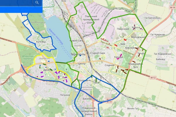 У Тернополі опублікували Карту відповідальності за прибирання доріг, проїздів та дворів взимку